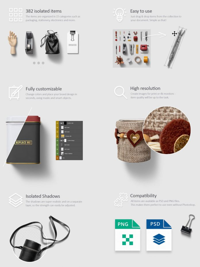 Photoshop Art and Branding Scene Templates by h3design