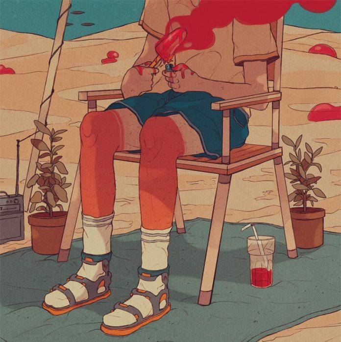 Hot summer illustration by Tomas Kos