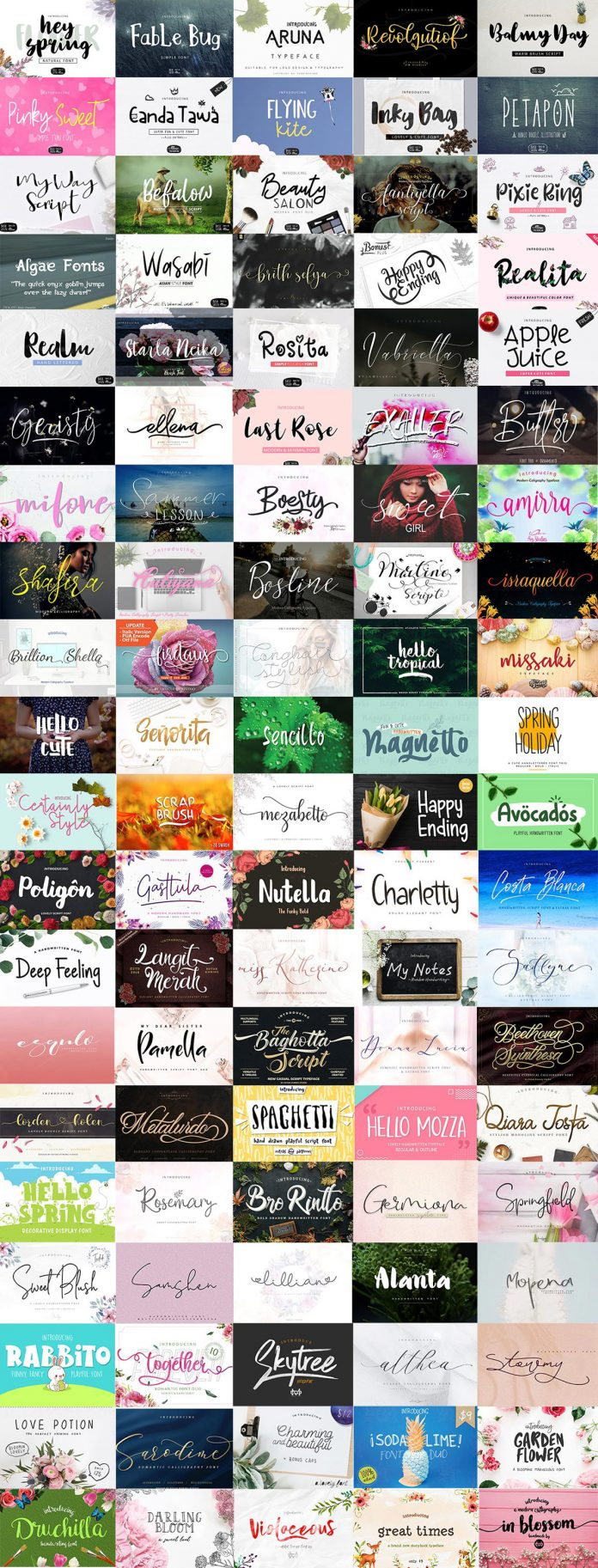 Spring Fonts Bundle