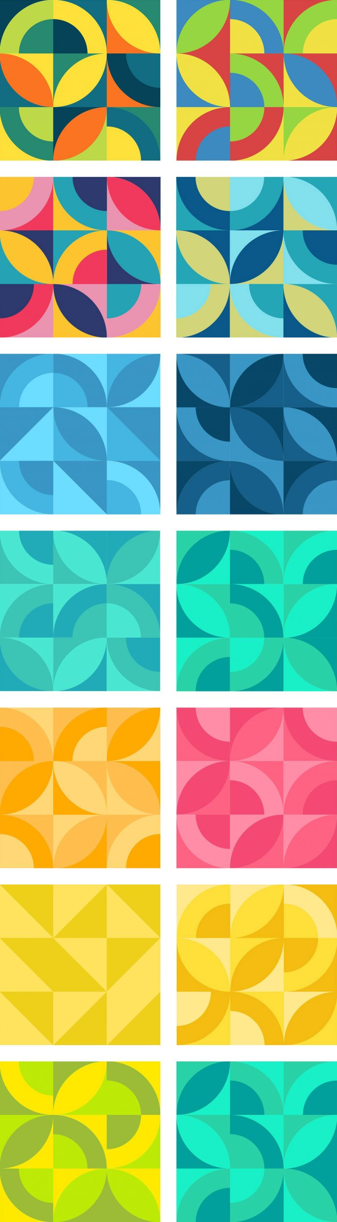 Organic Squares Patterns - 30 seamless vector graphics