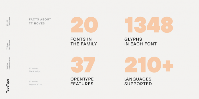 TT Hoves font family from TypeType