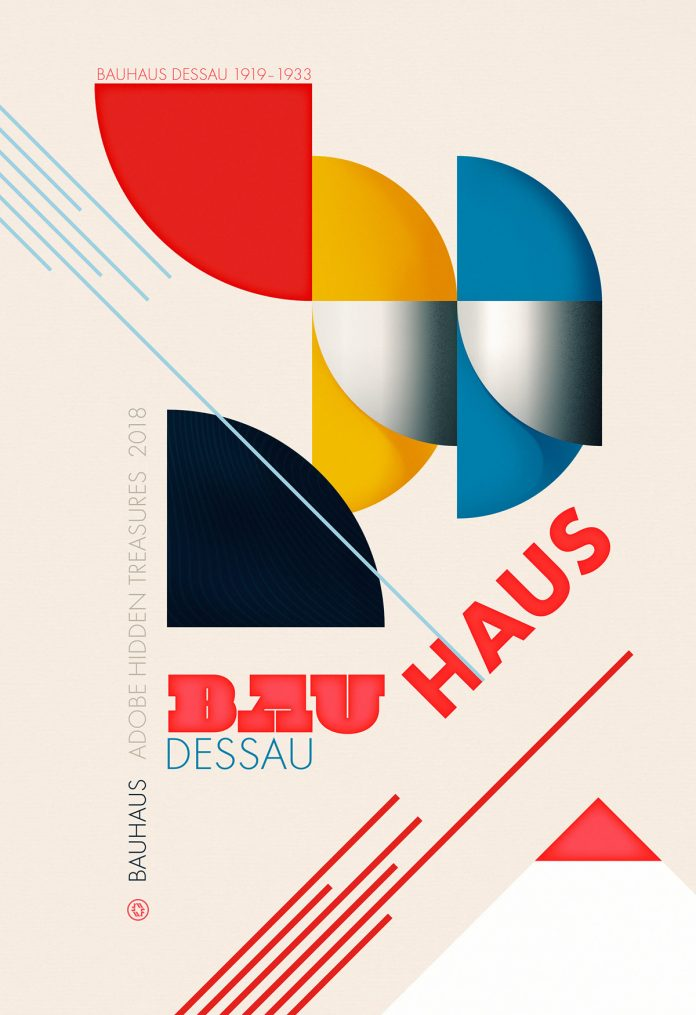 A tribute to Bauhaus - Adobe Hidden Treasures poster by W. Flemming