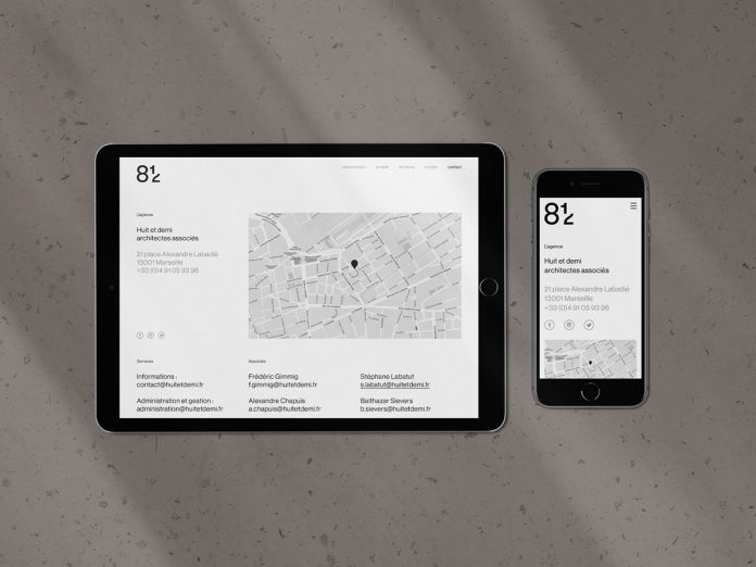 8 1/2 architectural firm branding by Avant Post.