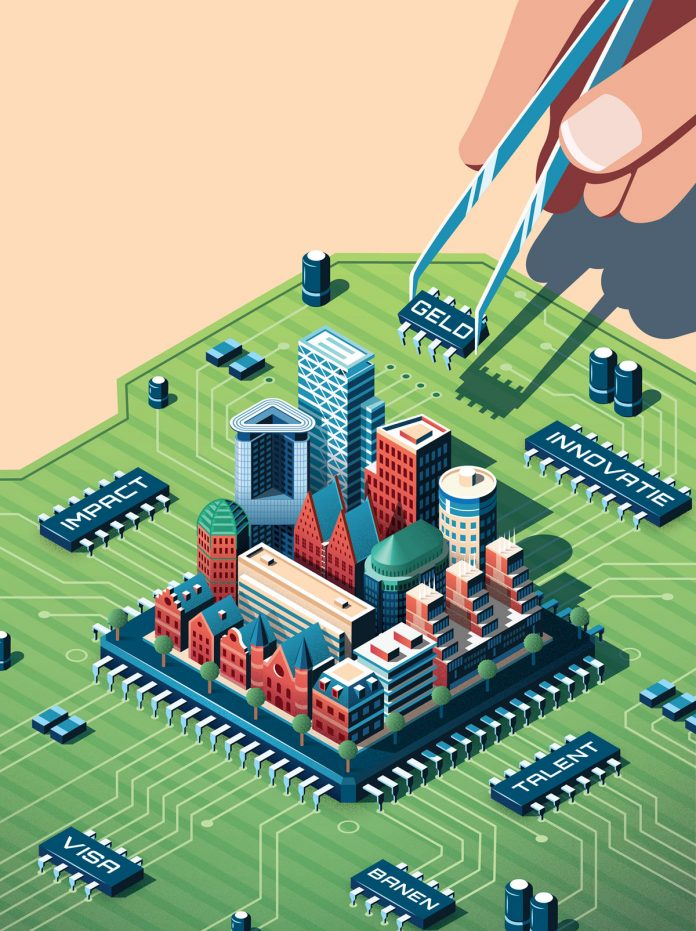 Isometric editorial illustration by Coen Pohl.