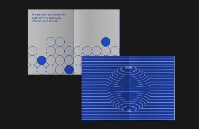Cover design based on minimalist graphics using simple shapes and lines.