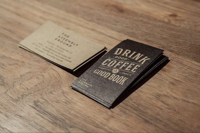 A vintage-inspired business card design by Bravo studio for the Assembly Store.