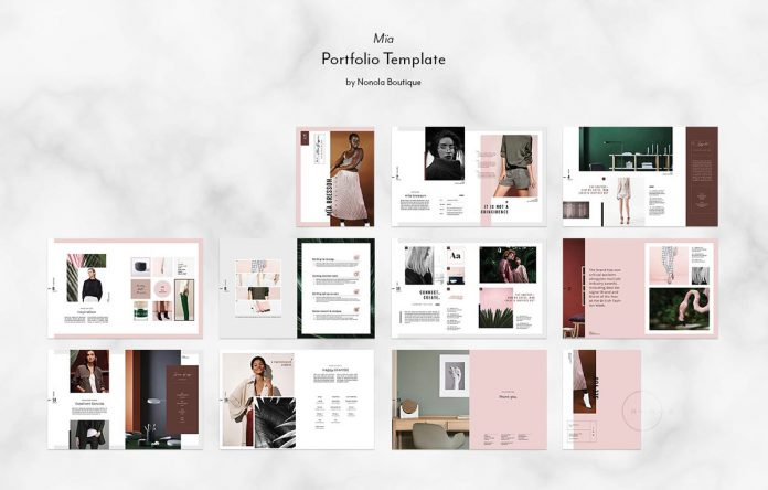 Adobe InDesign portfolio and catalog template.