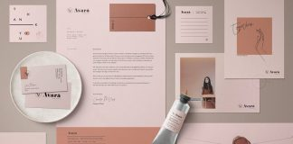 Avarä brand and stationery templates pack for Adobe Photoshop and Illustrator