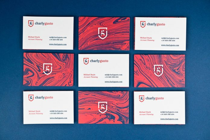 Business cards by Mubien Studio for Charly Gusto
