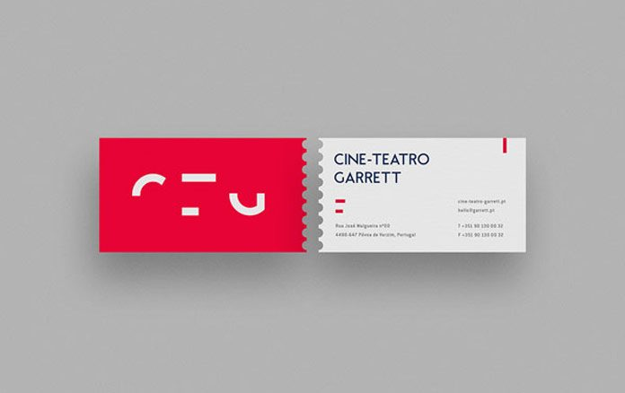 Cine-Teatro Garrett business card by MAAN Design Studio.