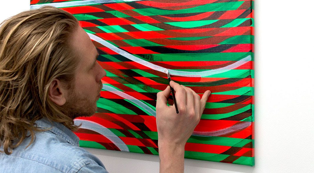 Expect Nothing, Appreciate Everything—abstract paintings by Daan Roukens