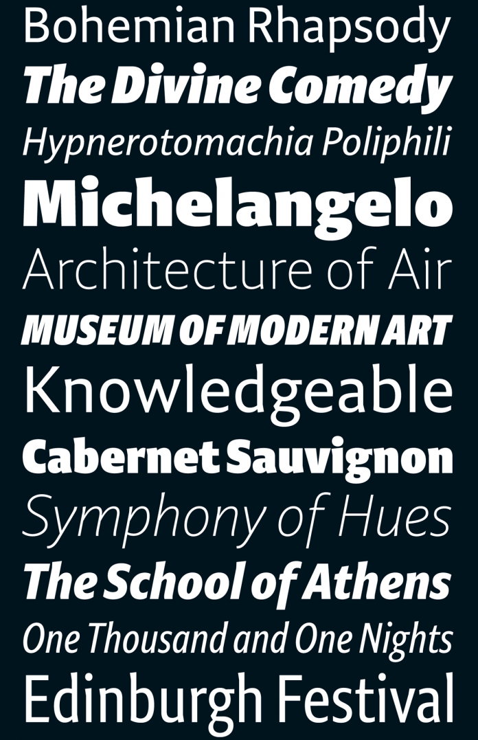 Niko font family by Ludwig Übele