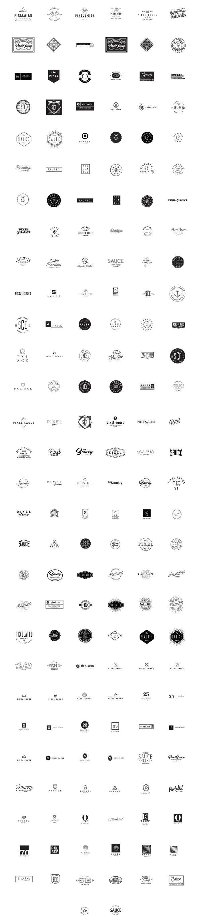 The 200 Best Logo Templates by Pixel Sauce