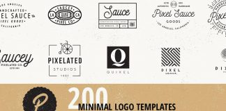 200 logo templates by Pixel Sauce