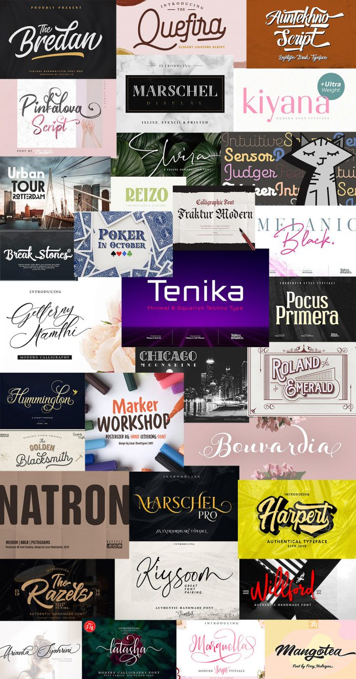 Top 81 Newly Made Fonts: 97% off