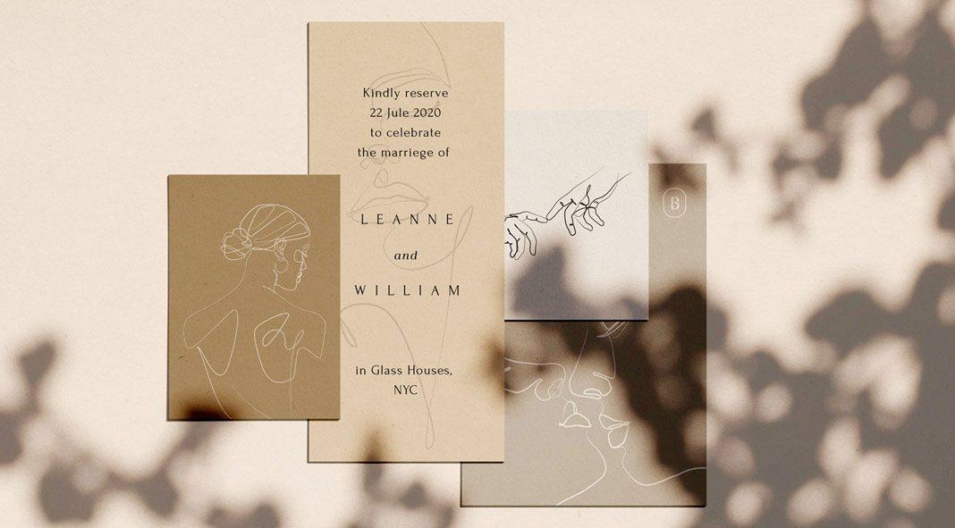 Elegant one line sketches by William Hansen.