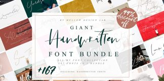 Giant handmade fonts bundle