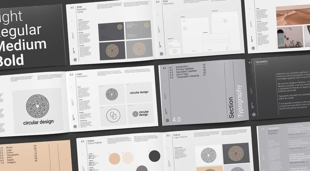 Minimalist brand guidelines template.