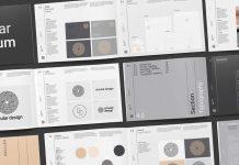 Minimalist brand guidelines template.