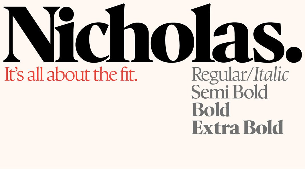 Nicholas font from Shinntype