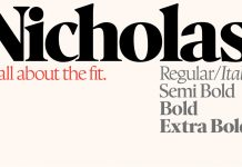 Nicholas font from Shinntype