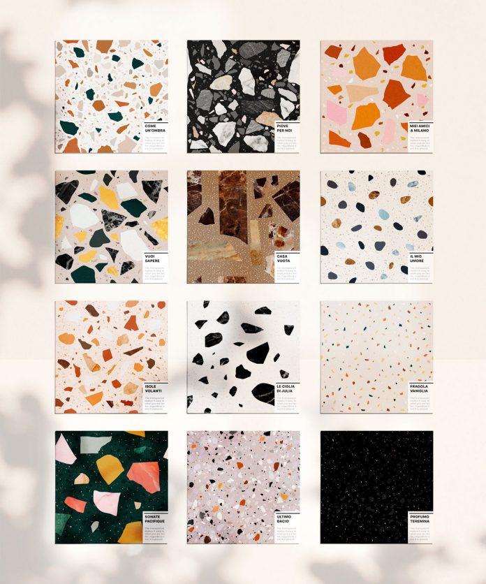 12 terrazzo seamless patterns.