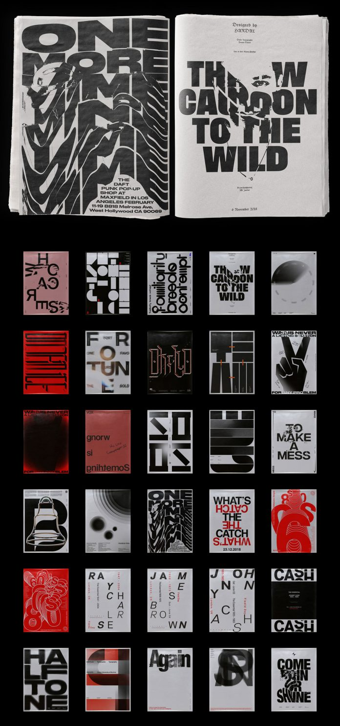 Thirty Typographic Poster Designs by Fatih Hardal