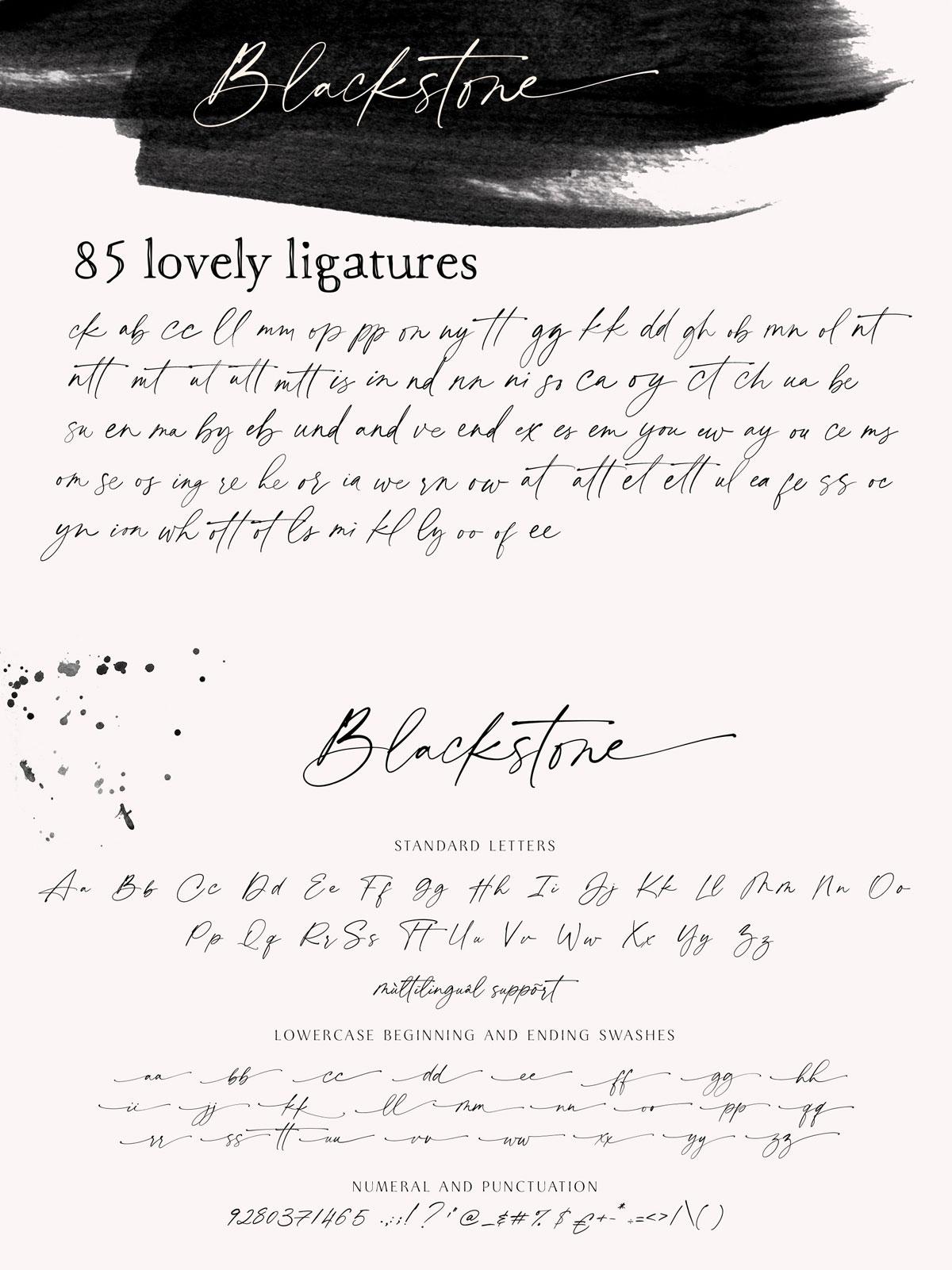 Blackstone Font: Modern & Elegant Calligraphy Typeface