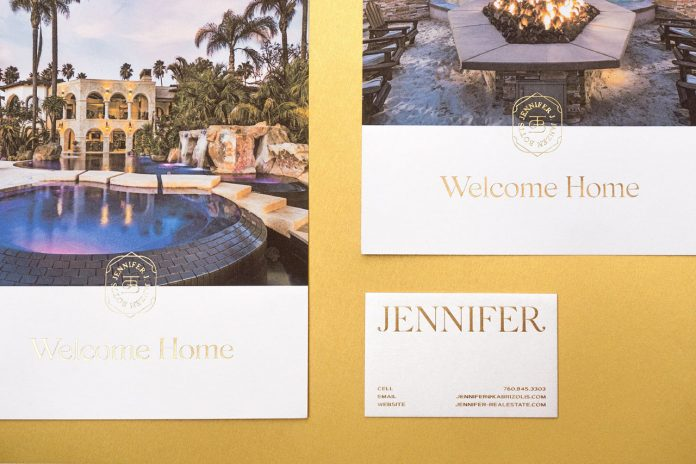 Graphic design and branding by Mubien Studio and Workshop Built Inc for Jennifer, a luxury residential real estate agent.