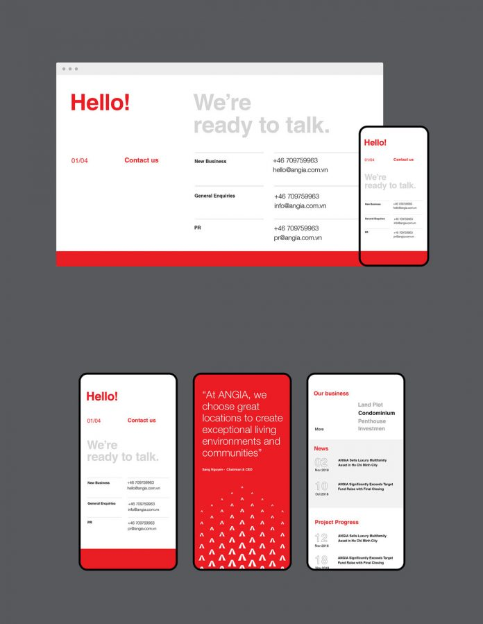 Web design for desktop and mobil.