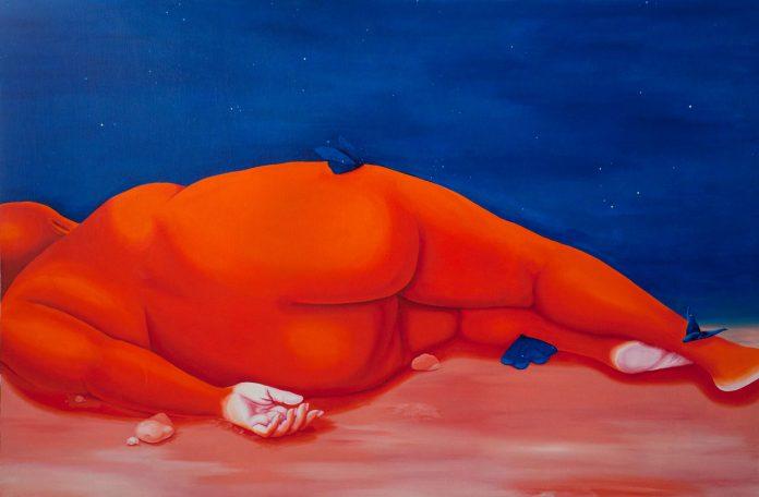 Artist Brittney Leeanne Williams at contemporary art gallery Zevitas Marcus.