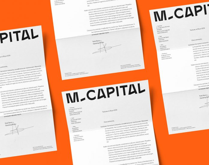 M Capital—graphic design and branding by studio Brand Brothers.