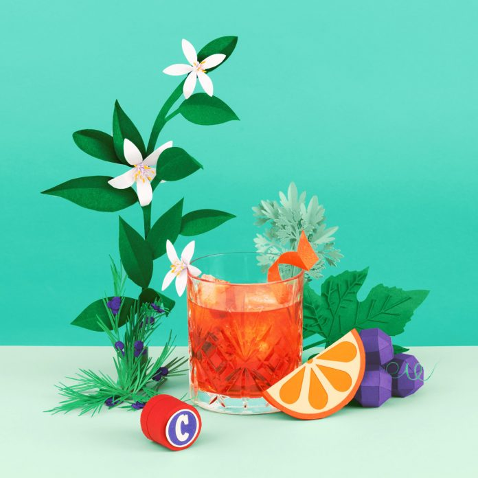 "Editorial paper art illustrations created by Get it Studio for Swiss newspaper ""Le Temps"" about summer cocktails."
