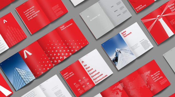 ANGIA graphic design and branding case study by Bratus