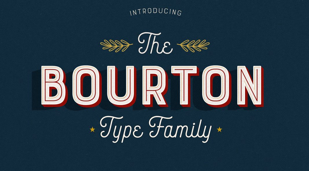 Bourton Typeface from Kimmy Design