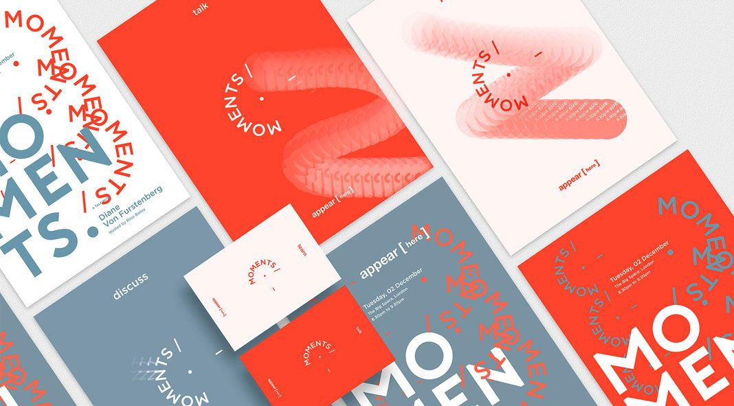Branding and graphic design by NOANCE Studio for Moments by Appear Here.