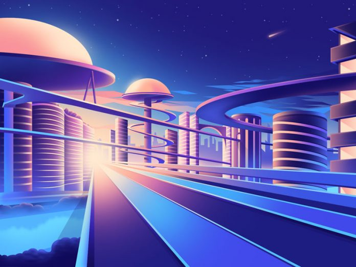 Gradient Utopia illustration