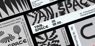 Graphic design, branding, and interior design for Yan Space.