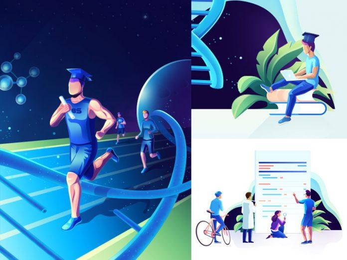 LBS Genetic University - illustration set