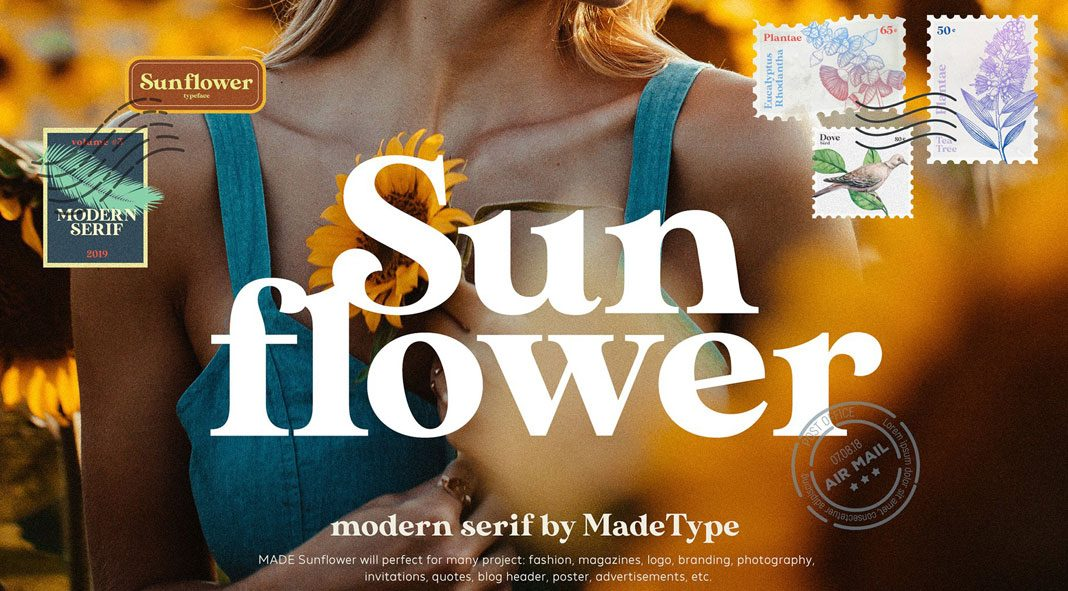 MADE Sunflower serif display font from MadeType.
