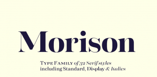 The Morison font family by foundry Fenotype.