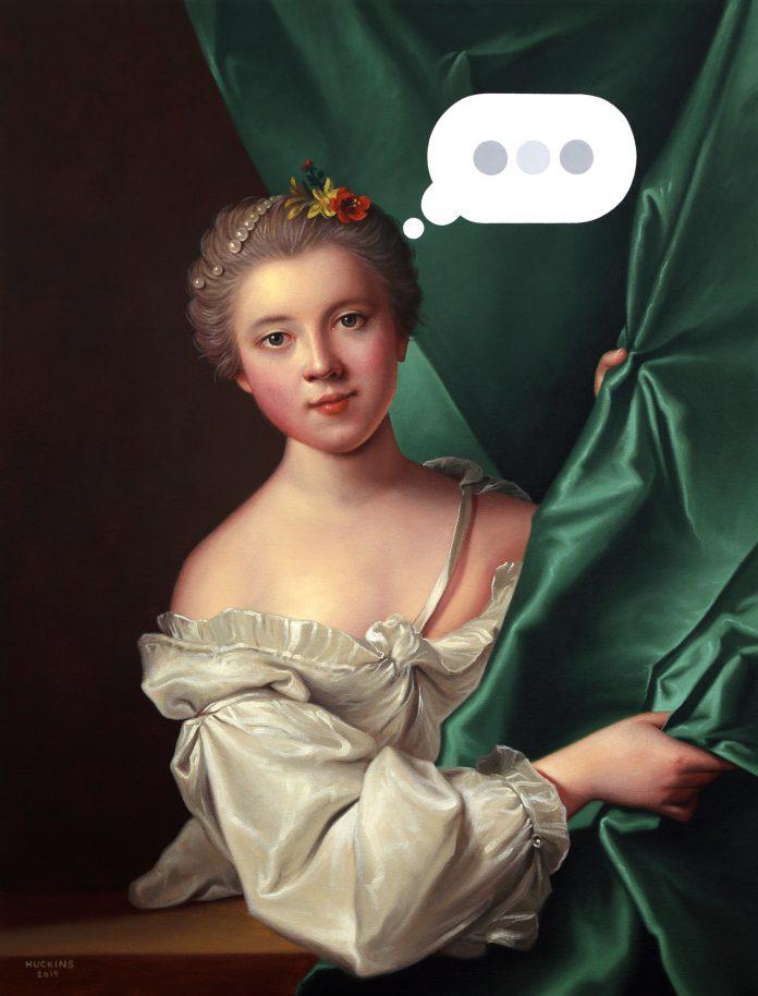 Portrait of Eléonore Louise Le Gendre de Berville, Panic Six (Text Bubble)