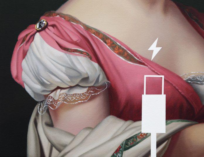 Hortense de Beauharnais, Panic Eight (Charging Battery), detail view