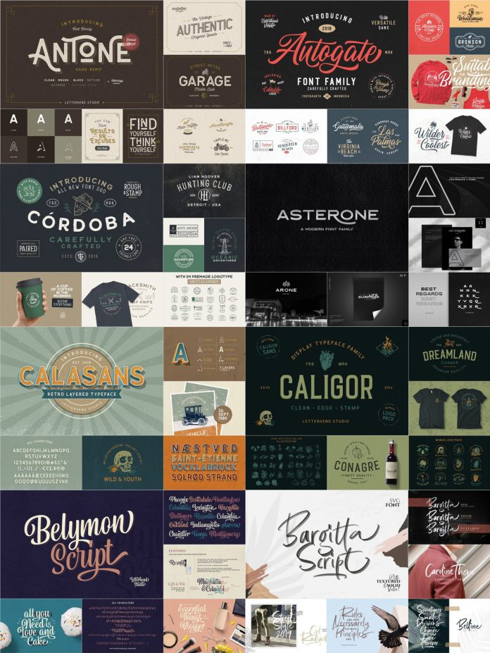 Big Fonts and Logos Bundle from Letterhend Studio