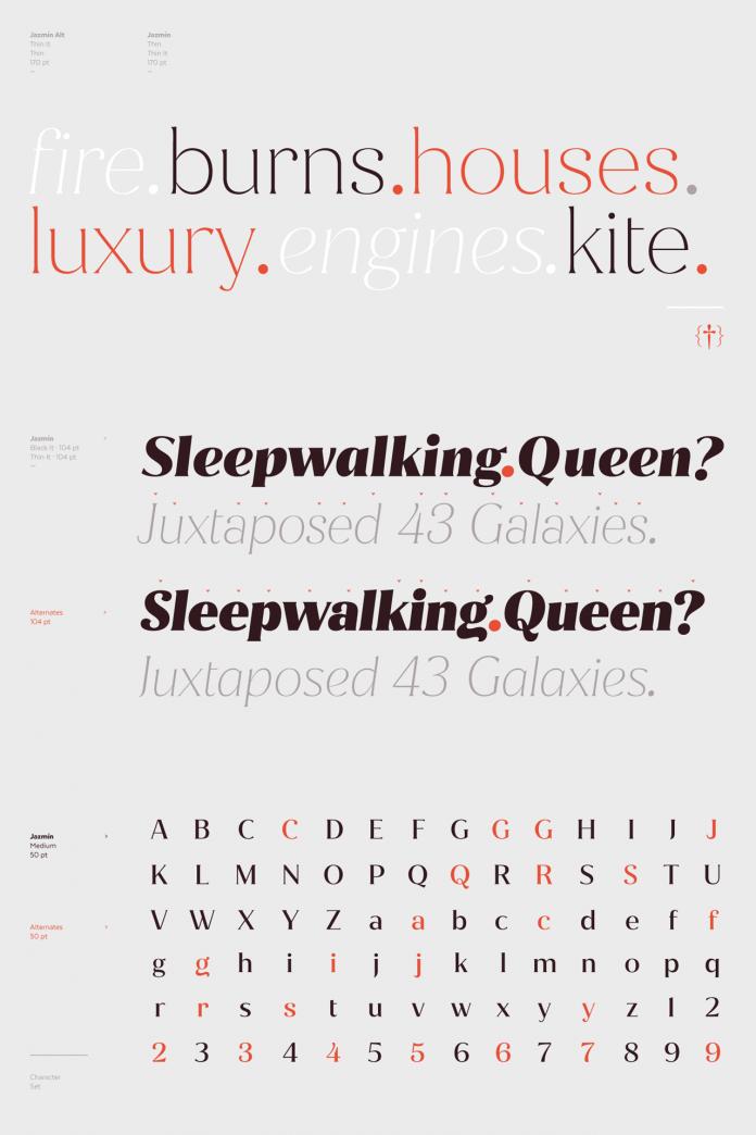Jazmín font family from Latinotype