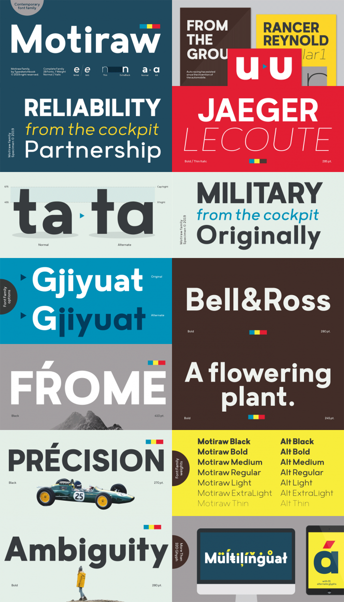 Motiraw font family by Typesketchbook
