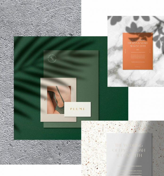 Plumere: animated stationery mockups for Adobe Photoshop.