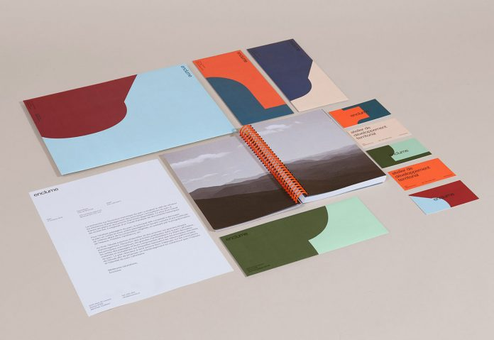 Enclume re-branding and graphic design by Demande Spéciale.