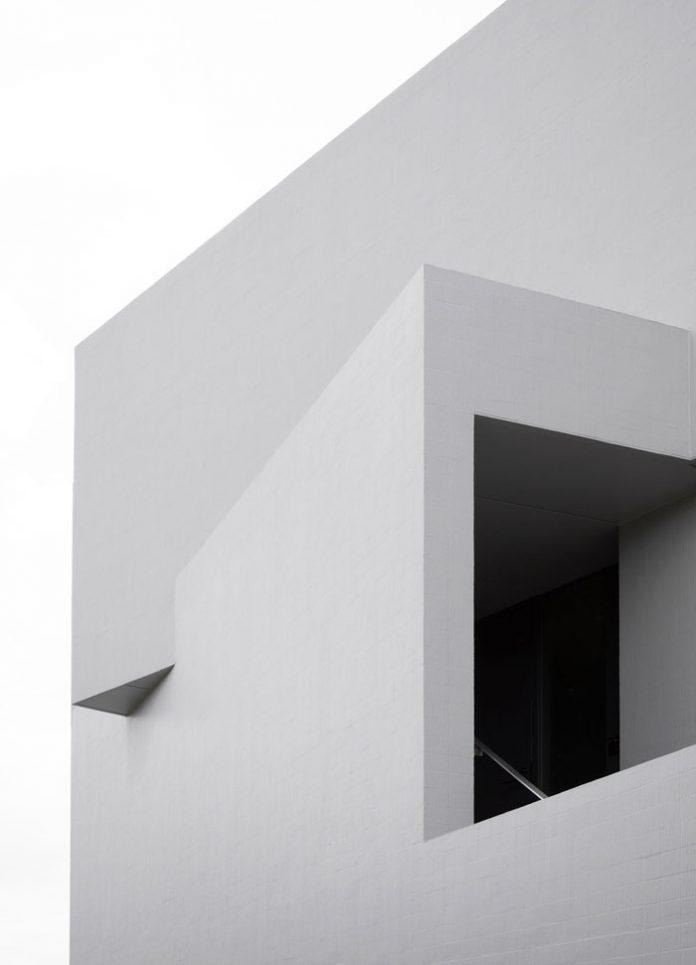 Straight, modern architecture