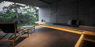 Minimalist stone and concrete residence in Hyōgo, Japan by architecture studio GOSIZE.